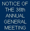 Notice Of Virtual Annual General Meeting