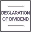 Declaration of  Interim Dividend - September 2014